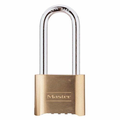 "Master Lock 175LH 2"" x 2-1/4"" Brass Padlock Set Your Own Combination"