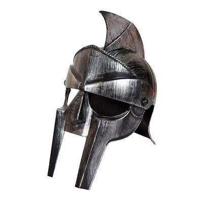 Römische Gladiator Kostüm Zubehör (Silber Gladiator Römisch Helm Erwachsene Zenturio Plastik Kostüm Zubehör)