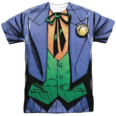 DC The Joker Classic Costume Outfit Uniform Allover Front Sublimation T-shirt