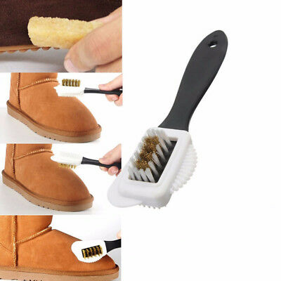 Black Shoes Cleaning Soft Boots Nubuck Suede S Shape 3 Sides Shoes Brush