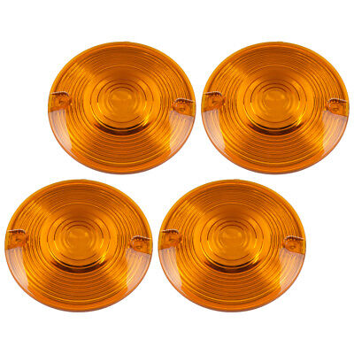 Amber Turn Signal Lens Cover For Harley Electra Glide Road King Heritage Softail