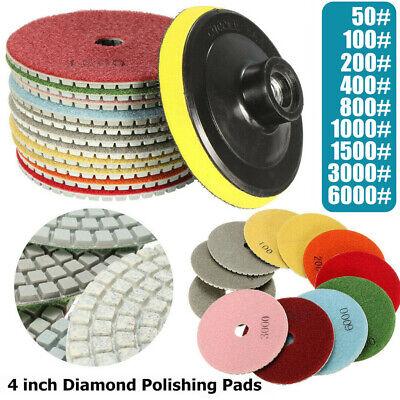 4 Inch Diamond Polishing Pads 10 Piece Set Granite Marble Concrete Stone Wetdry