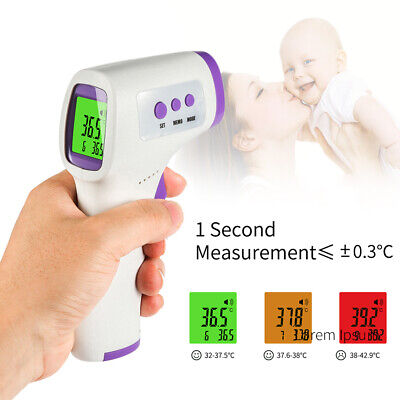 Digital Infrared Body Thermometer Non-Contact Ear Forehead Temperature Baby S5V5