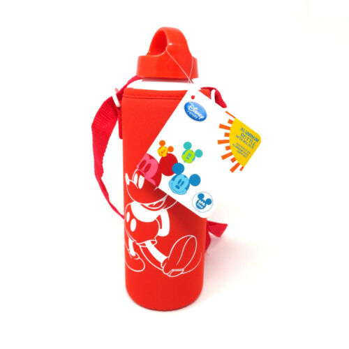 Disney Red Mickey Mouse Aluminum Bottle with holder Free Shipping!!