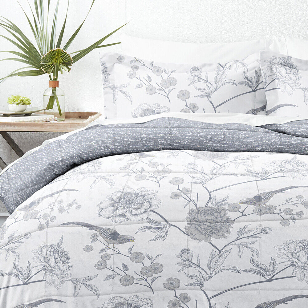 Home Collection Down Alternative Molly Botanicals Reversible Comforter Set