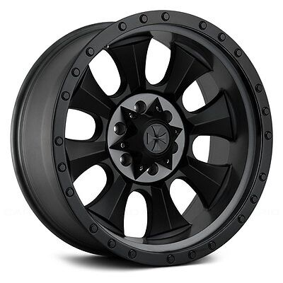 "(5) 17"" Cali Offroad Ironman Black Wheels Jeep Wrangler JK 33"" Mud Tires Package"