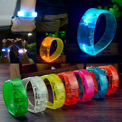Party Rave Concert Voice Control LED Light Bracelet Bangle Sound Activated - Concert Led