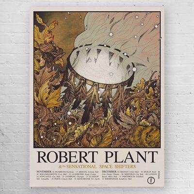 "ROBERT PLANT ""CARRY FIRE"" UK TOUR POSTER"
