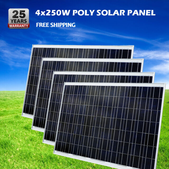 4*250W PV Solar Panel 1000W Solar Panel for Build 24V Home Boat Battery Charger