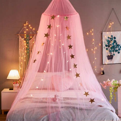 Bed Canopy Curtains Mosquito Net Stars for Girls Boys Adults
