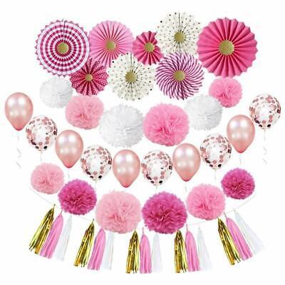 Bridal Shower Plum Wedding Decoration Kit Set of 31 - Party Supplies Pack - Wedding Shower Party Supplies
