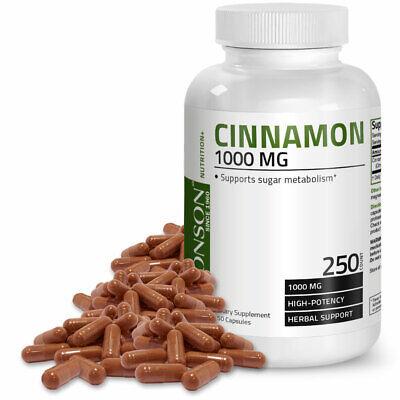 Bronson Cinnamon Blood Sugar Support, 250 Capsules