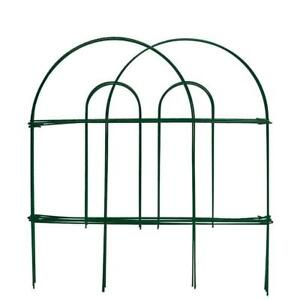Amagabeli Decorative Garden Fence 18 in x 50 ft Rustproof. Green Iron Landscape Wire Folding Fencing. Patio Flower Edge