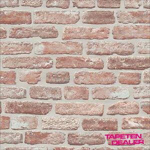 Vlies-Tapete / Steintapete / Erismann 6939-06 / Braun / 3 D / Ziegel / Brix