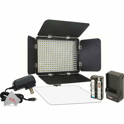 Vidpro LED-330X Varicolor Studio Video Lighting Kit with Built-in Barn Doors