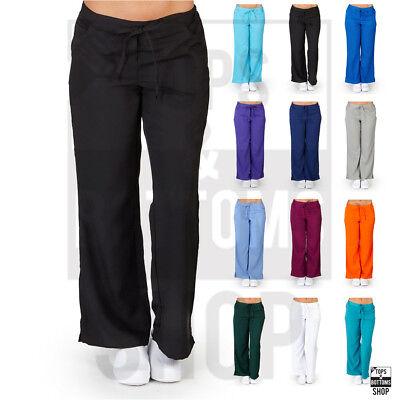 - Womens Drawstring Elastic Waist 5-Pocket Scrub Pants Nursing Uniform - 9117