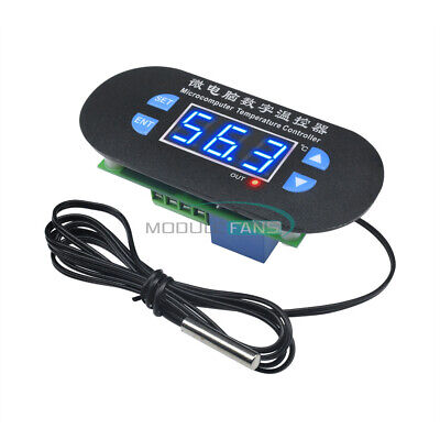 Acdc12v Digital Blue Led Thermostat Temperature Alarm Controller Sensor Meter