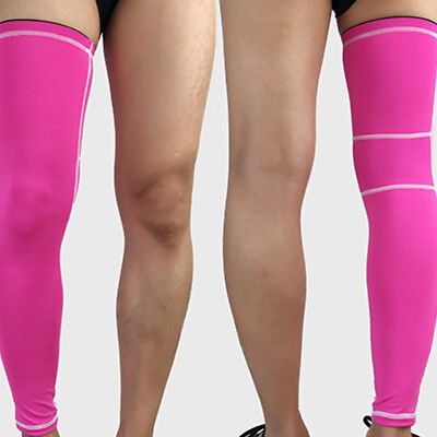 Knee Sports Injury Compression Guard Brace Leg Calf Support Long Sleeve (Best Compression Calf Guards)