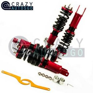 Coilovers for Honda Civic 96-00 Suspension Kits Adjustable Height Red Coil Strut