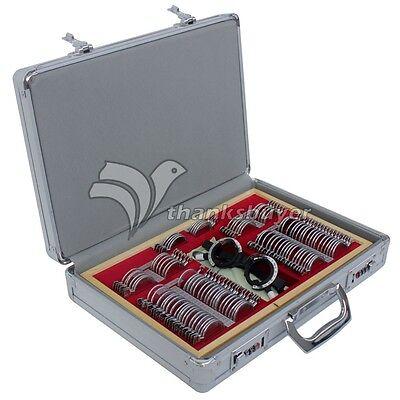 104pcs Trial Lens Set Metal Rim Ophthalmic Trial Case Lenses Aluminum Case Frame