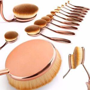 Pro-Beauty-Toothbrush-Makeup-Brushes-Eyebrow-Oval-Powder-Cream-Foundation-Brush