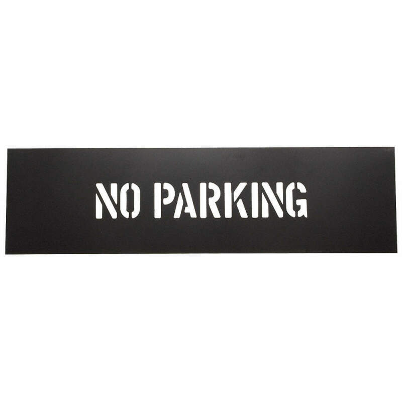 GRAINGER APPROVED 1F122 Safety Stencil,No Parking,PVC Plastic