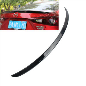 Black For MAZDA 3 AXELA 14-18 Sedan Rear Tail Trunk Lip Spoiler Wing Trim OEType