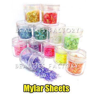 x purpurina para uas polvo iced mylar hoja decoracin g bote