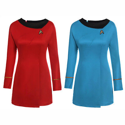 Original Star Trek Womens Uniform (Star Trek Dress Uniform Costume Adult TOS Original Series Classic Fancy)