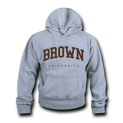 Game Day Hoody Sweatshirt - Brown University Hoodie Sweatshirt Game Day Fleece Pullover Heather Grey
