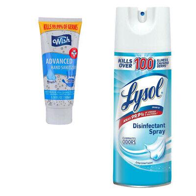 Lysol Disinfectant Antibacterial Spray Crisp Scent 12.5oz 3.4 Oz Sanitizer