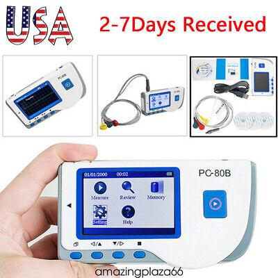 Uspc-80b Handheld Ecg Ekg Detector Heart Rate Monitorecg Lead Wire Cable Fda