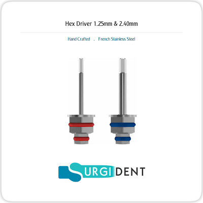 Dental Hand Hex Drivers 1.25mm 2.40mm Implant Abutment Lab Instruments
