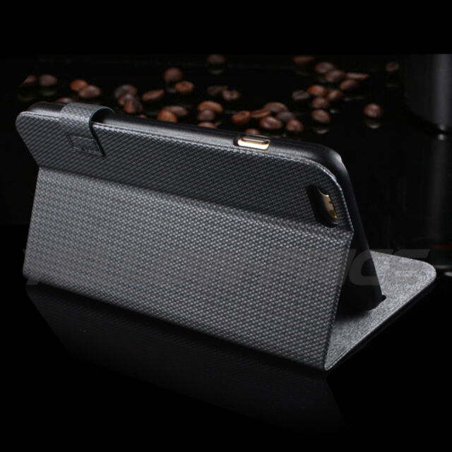Luxury Flip Leather Card Wallet Slot Holder Case Stand Cover For iPhone 6 Plus