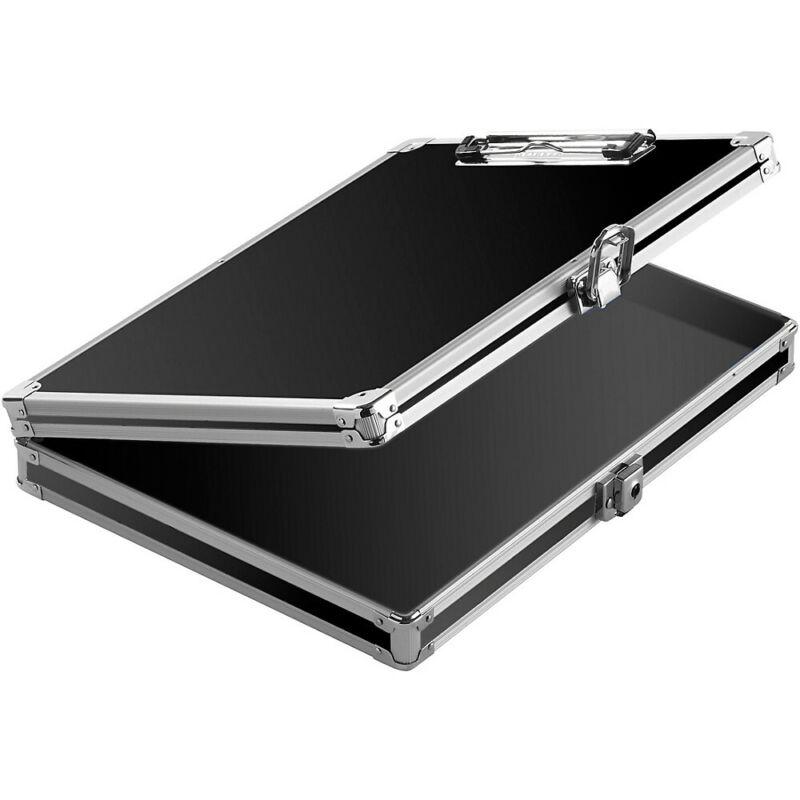 Vaultz Locking Storage Clipboard Black/Silver