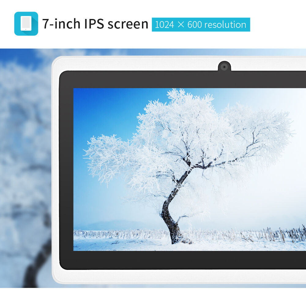 """7"""" Unlocked Tablet PC Android 4.4 Quad Core 8GB Dual Cameras WIFI White PAD"""