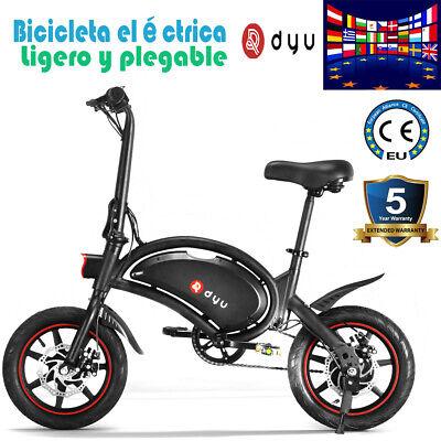 DYU Bicicleta Electrica Plegable Pedaleo asistido E-Bike 250W 36V D3F