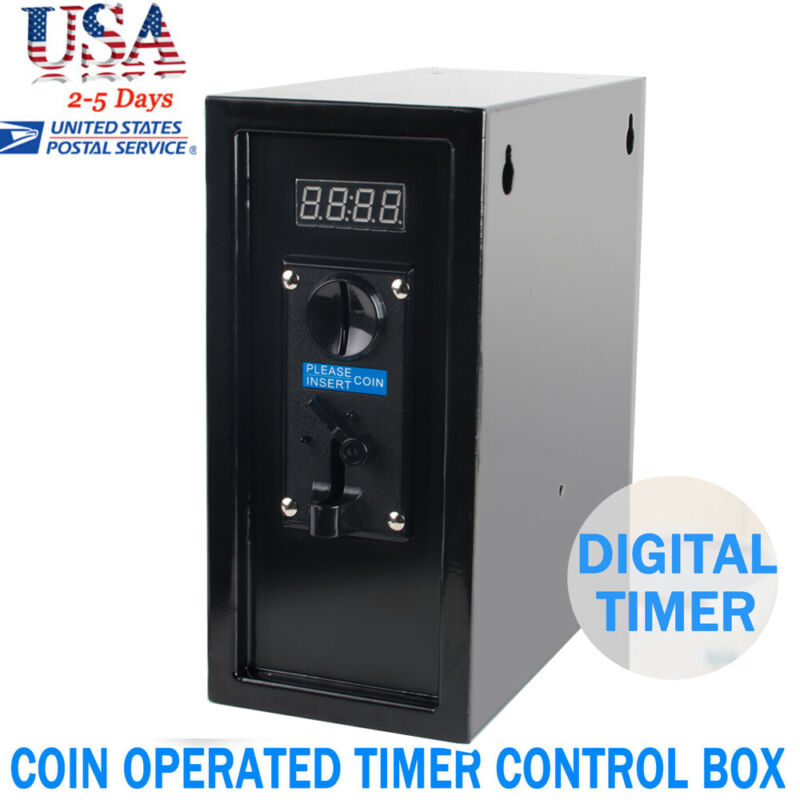 USA Coin Operated Timer Control Box Electronic Device Coin Selector Useful