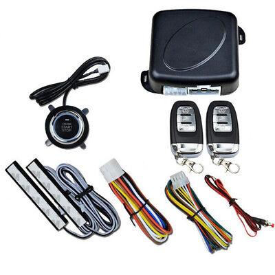 Car Keyless Entry Engine Start Alarm System Push Button Remote Starter Stop Auto