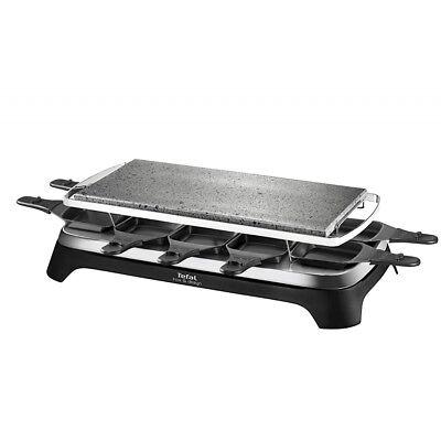 Tefal PR4578 Raclette Grillplatte Inox & Design für 10 Pers. schwarz/edelstahl