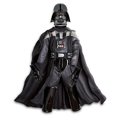 Disney Store Darth Vader 4pc Costume Boys Star Wars NEW Sith Dark Lord