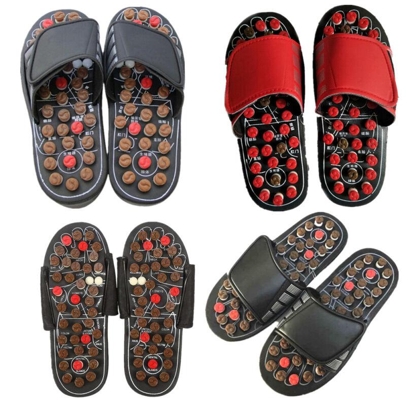 EZGO Reflexology Sandals Foot Massage Slipper Acupressure Therapy Shoes