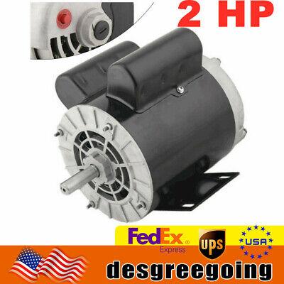 2 Hp Air Compressor Duty Electric Motor 56 Frame 3450 Rpm Single Phase 120240 V