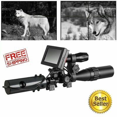 DIY Night Vision Scope Best Digital Camera For Rifle Scope With IR Torch