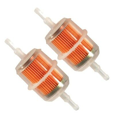 2 x LARGE Petrol In-Line Universal Clear Fuel Filters Fits 6 or 8mm Pipe Filter