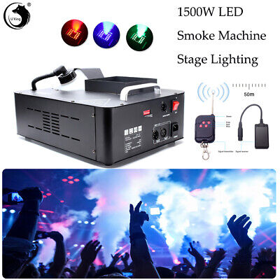 1500W Smoke Machine LED Stage Lighting With Remote Control For DJ Party Wedding - Party Light Machine
