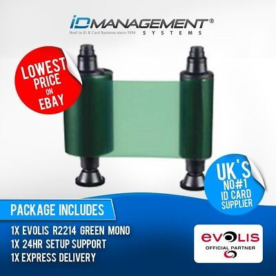 Evolis Green Ribbon for Tattoo Printers • Free UK Delivery • Low Prices - Green Ribbon Tattoo