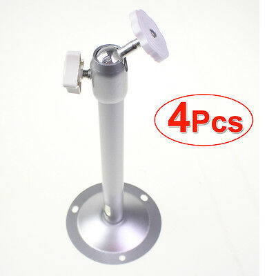 4 Pcs Adjustable Ceiling Wall Mount Stand Bracket Alloy for CCTV Camera -