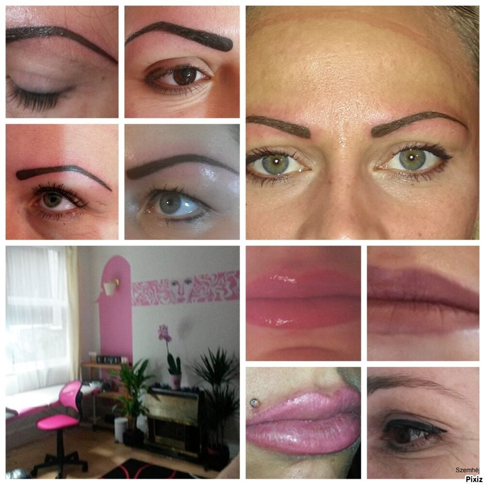 Permanent makeup and real tattoo, vacuum face cleaning