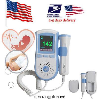 Pocket Prenatal Fetal Doppler Pregnancy Baby Heart Beat Monitor 3mhz Probegel
